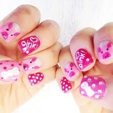 This little piggy went to the nail salon.I am definitely getting this design! Love Nails, Pretty Nails, Pig Nails, Finger Nail Art, Manicure And Pedicure, Pedicures, This Little Piggy, Creative Nails, Cool Nail Art