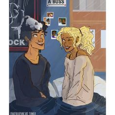 A few years after Percabeth returns from Tartarus they adopt kitten in honor of Small Bob. (credits to the artist)