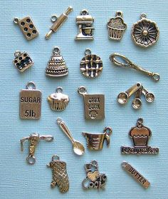 Oh, The Foodlovers would adore these tiny bakers charms!   ~~  Houston Foodlovers Book Club