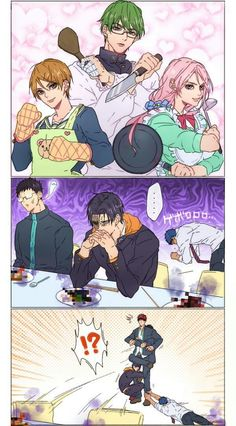Kuroko no basket doujinshi - Khi knb nấu ăn Kuroko No Basket, Got Anime, Anime Guys, Manga Anime, Fanarts Anime, Anime Characters, Memes 9gag, Kurokos Basketball, Otaku
