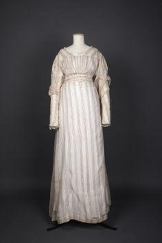 Day Dress Date  1815 - 1820   Materials  Muslin, Silk