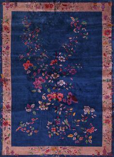 "#267 Chinese Art Deco carpet 9'10"" x 13'6"""