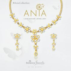 #AniaCollection Light Weight Jewellery. Subtle play of gold and diamonds come together to brighten every moment of the day. Reliance Jewels Be The Moment. www.reliancejewels.com  #reliance #reliancejewels #indianjewellery #beautiful #bridal #neverendingtrend #bethemoment #beyou