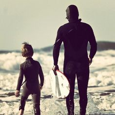 father and son...surfing together