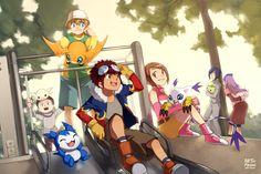 Digimon Adventure 02! by finni.deviantart.com   Hace poco que añadí otra imagen de la misma serie y de la misma temporada, y la verdad no me quiero repetir, así que sólo me queda añadir que las personalidades de los personajes en esta generación fueron tan variadas y divertidas que, aún hoy, las recuerdo con mucho cariño.