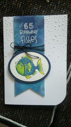 fishy birthday by Normay - Cards and Paper Crafts at Splitcoaststampers