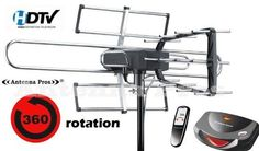 AX-969 Antenna Pros Long Range High Gain Outdoor HD TV Antenna w Motor Rotor Spectrum 6 by Antenna Pros. $119.95. The antenna comes with a built-in rotor (motor), which can turn a full 360 degrees using the infrared remote control included in the package. This is the perfect solution for any rural or suburban area because it can pick up signals from far away. Since the antenna can be aimed in any particular direction, you will be able to pick up TV signals much better ...
