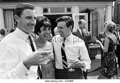 Garden Party at home of Graham Hill, Motor Racing Driver, to celebrate his successful return from America, where - Stock Image