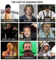Dam, aren't they all FABULOUS *sparkle sparkle* cast of supernatural Supernatural Bloopers, Supernatural Actors, Supernatural Tattoo, Supernatural Pictures, Supernatural Imagines, Supernatural Wallpaper, Castiel, Supernatural Fanfiction, Supernatural Costume
