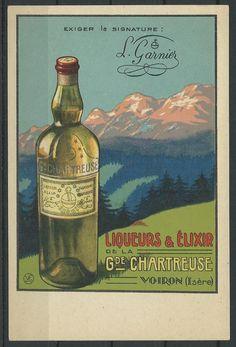 Publicité ancienne #Liqueurs & Elixir de la Gde #Chartreuse Voiron (Isere), L. Garnier