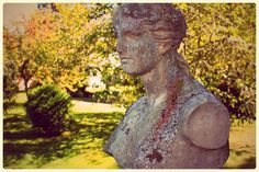 Statue from the Endicott Mansion at Glen Magna Farms. Garden inspiration.