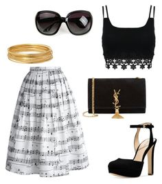 Untitled #534 by sara-scagnoli on Polyvore featuring polyvore moda style Chicwish Michael Kors Yves Saint Laurent Bold Elements women's clothing women's fashion women female woman misses juniors