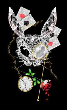White Rabbit Mask by rockgem.deviantart.com