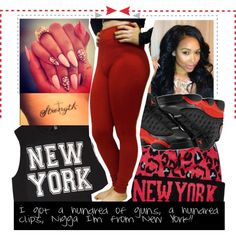 Chick I'm from New York, created by diane-corporan on Polyvore