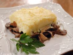 Laura Calder's Mushroom Parmentier   Sheperd's pie for folks who don't eat sheperd.