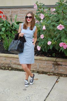 Weekend Casual, Sheinside Grey Sweatshirt dress #sheinside #casuallooks #converse #sweatshirtdress