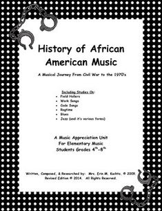 History of African American Music: Musical Journey From Coming to America to…