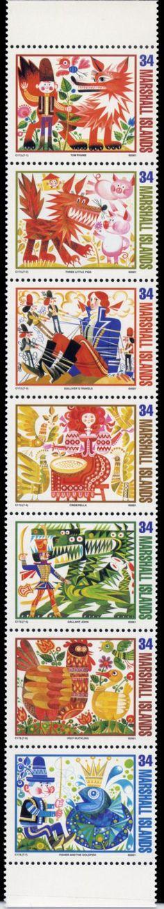 Bélyegsor, Marshall Islands  Grafikus: Kass János, Hungary