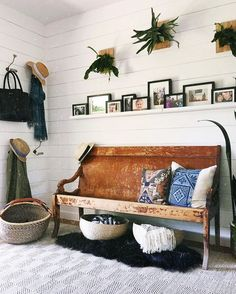 Entry way goals with vintage and global textiles!