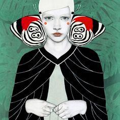Fanni #soffronia #sofiabonati #butterfly #illustration #mariposa