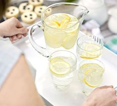 A refreshing alternative to shop-bought soft drinks, perfect for the summer, from BBC Good Food Magazine. Bbc Good Food Recipes, Cooking Recipes, Yummy Food, Non Alcoholic Drinks, Cocktails, Beverages, Cocktail Drinks, Mojito Mocktail, Creamy Potato Salad