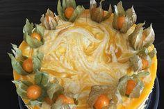 Käsesahnetorte mit Pfirsichen
