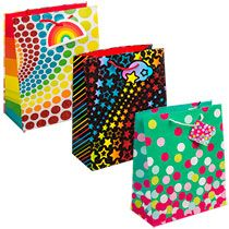 bulk large colorful alloccasion glittery gift bags at