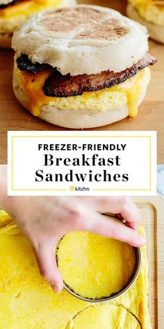 How To Make Freezer-Friendly Breakfast Sandwiches How To Make Make Ahead Freezer Friendly Breakfast Sandwiches. The post How To Make Freezer-Friendly Breakfast Sandwiches & Breakfast and Brunch! Freezer Cooking, Cooking Recipes, Healthy Recipes, Freezer Eggs, Simple Recipes, Cooking Tips, Brunch Recipes, Breakfast Recipes, Drink Recipes