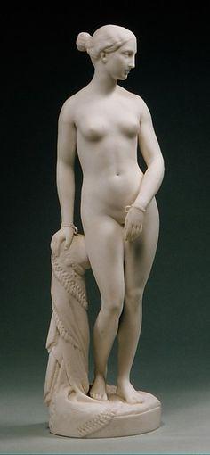 The Greek Slave, 1849. Minton and Company Manufactory. Parian porcelain. Metropolitan Museum of Art.