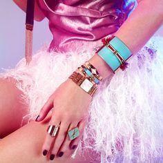 Zoom sur la collection Gisèle…   Originaux et féminins, les bijoux de la collection Gisèle vont vous surprendre… en coloris turquoise et fuchsia dans un univers ethnique, les bijoux de cette collection illumineront votre look.   #satelliteparis#bijoux#gioielli#jewelry#love#photooftheday#beautiful#fashion#bracelet#bijouxcreateur#ring#bague
