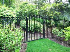 fenced in back yard on pinterest wrought iron fences. Black Bedroom Furniture Sets. Home Design Ideas