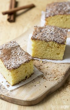 Easy to make and super yummy, this greek yogurt cinnamon coffee cake is the perfect snack for any day!