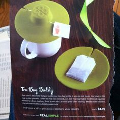 Tea bag holder/mug cover (Container Store)