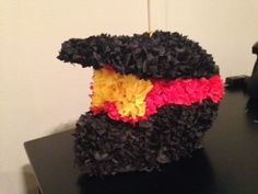dirt bike helmet piñata I made for my son's birthday party. Motocross Birthday Party, Bike Birthday Parties, Dirt Bike Birthday, Motorcycle Birthday, Motorcycle Party, 7th Birthday, Themed Parties, Birthday Ideas, Bicycle Party