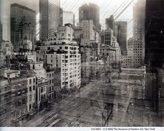 Long exposure photograph of the rebuilding of the MoMa