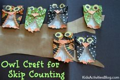 Owl craft from cupcake liners