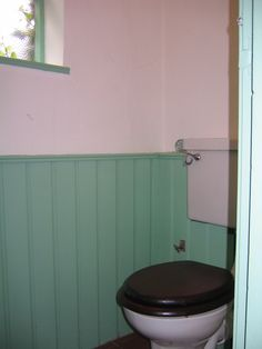 Toilet with panelling