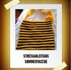 Stricken Strickanleitungen Strickmuster - auch für Anfänger: Strickanleitung Sommertasche