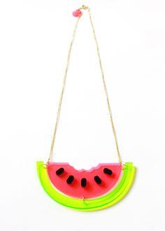 I Love Crafty | Bite me Watermelon Necklace