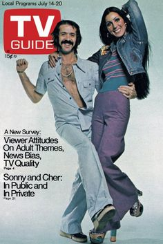 TV Guide July 14, 1973 - Sonny and Cher Bono of The Sonny and Cher Show.