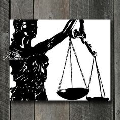 Law Print INSTANT DOWNLOAD Lady Justice Lawyer by NiftyPrintables