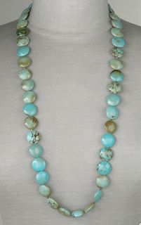 I love the different colors of turquoise in this necklace.
