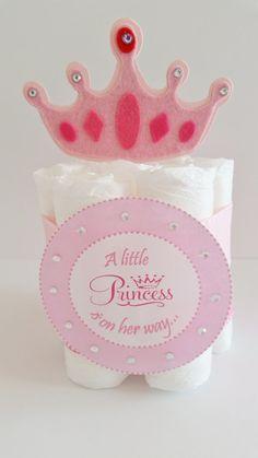 Princess Diaper Cake, Mini D... from LilLoveBugsCreations on Wanelo