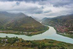 View from Jvari Monastery Georgia  Landscapes photo by csillogo11 http://rarme.com/?F9gZi