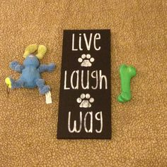Wood Dog Sign Pet Stuff Home Decor Wall by somethingfromthesea, $22.00