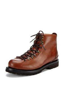 Leather Hiking Boots by Buttero at Gilt Royal Blue Bow Tie, Royal Blue Dresses, Leather Hiking Boots, Hiking Shoes, Me Too Shoes, Men's Shoes, Shoe Boots, Brown Tux, Caterpillar Boots