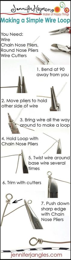 awesome Jewelry Making Basics : Making A Simple Wire Loop #jewelrymaking...