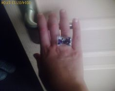 Crazy Square Purple Ring