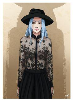 Prace z wystawy Dagmary Rzadkowskiej w Galerii Na Piętrze, styczeń 2015  Off-White by Virgil Abloh inspired illustration by Das (2015)