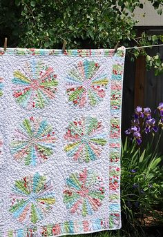 Dresden plate quilt...I want to make one like my Ohio star quilt, but a Dresden plate for Germany!
